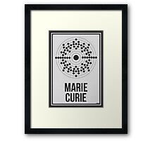 MARIE CURIE - Women in Science Wall Art Framed Print