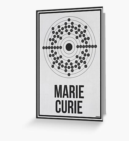 MARIE CURIE - Women in Science Wall Art Greeting Card