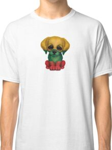 Cute Patriotic Lithuanian Flag Puppy Dog Classic T-Shirt