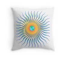 Old Solar System  Throw Pillow