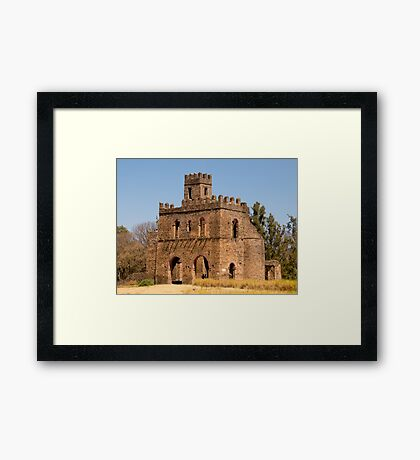 gondor castle in ethiopia Framed Print