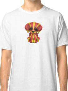 Cute Patriotic Macedonian Flag Puppy Dog Classic T-Shirt