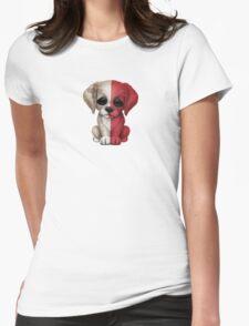 Cute Patriotic Maltese Flag Puppy Dog Womens Fitted T-Shirt