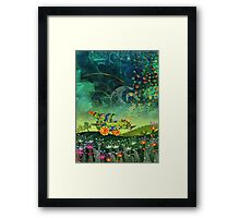 Green Car Framed Print