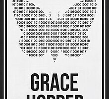 GRACE HOPPER - Women in Science Wall Art by Hydrogene