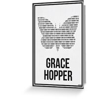 GRACE HOPPER - Women in Science Wall Art Greeting Card