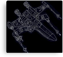 X-Wing in Black Canvas Print
