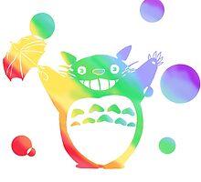 Totoro's Rainy Day (Rainbow) by Sox-in-a-Box