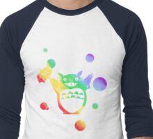 Totoro's Rainy Day (Rainbow) Men's Baseball ¾ T-Shirt