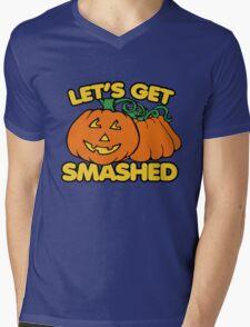 Let's get smashed halloween pumpkins Mens V-Neck T-Shirt