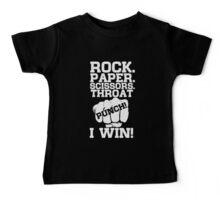Rock Paper Scissors Throat Punch I Win Baby Tee