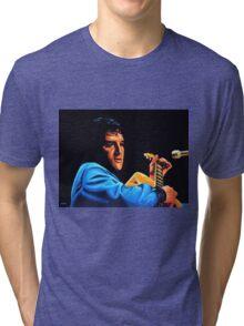Elvis Presley 2 Painting Tri-blend T-Shirt