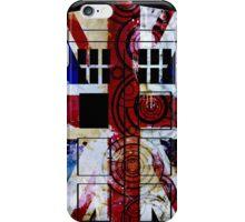 Union Jack TARDIS with Gallifreyan  iPhone Case/Skin