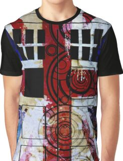 Union Jack TARDIS with Gallifreyan  Graphic T-Shirt