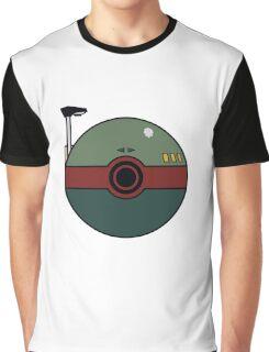 Boba Fett Pokemon Ball Mash-up Graphic T-Shirt