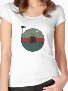 Boba Fett Pokemon Ball Mash-up Women's Fitted Scoop T-Shirt