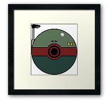 Boba Fett Pokemon Ball Mash-up Framed Print