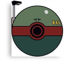 Boba Fett Pokemon Ball Mash-up Canvas Print