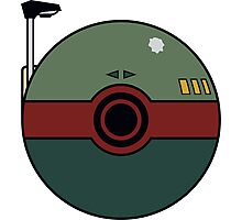 Boba Fett Pokemon Ball Mash-up Photographic Print