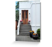 Summer Front Entrance Greeting Card