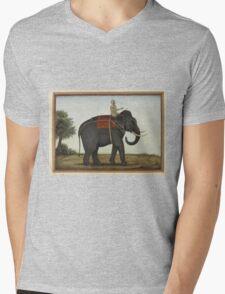 An Elephant Keeper Riding His Elephant (1825) Mens V-Neck T-Shirt