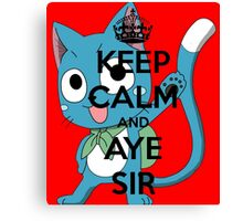 Aye Sir Canvas Print