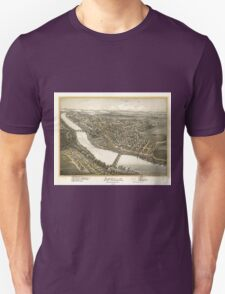 Vintage Pictorial Map of Apollo PA (1896) Unisex T-Shirt