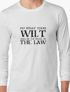 Alesiter Crowley Law Quote Occult Long Sleeve T-Shirt