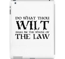 Alesiter Crowley Law Quote Occult iPad Case/Skin