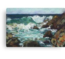 Tide coming in at Pandanus Cove - plein air Canvas Print