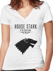GAMES OF TRHONES Women's Fitted V-Neck T-Shirt
