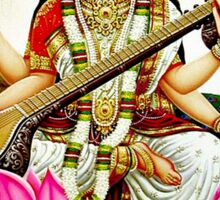 """BRAHMA SARASWATI CONSORT AND GODDESS"" Print Sticker"