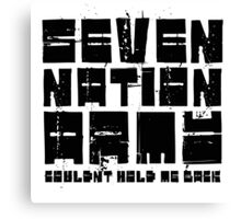 Seven Nation Army The White Stripes Lyrics Canvas Print