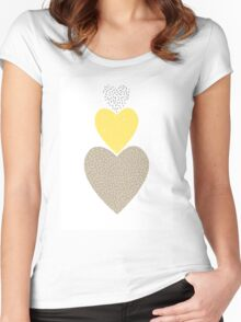 Romantic hearts Women's Fitted Scoop T-Shirt