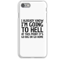 Funny Quote Party Hell Cool Random Humor iPhone Case/Skin