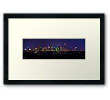 Austin, Texas Skyline on a Mid July Night  Framed Print