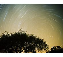 2am Star trail, Night photography, Nature Photographic Print