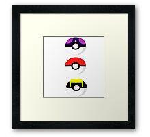 Pokemon balls Framed Print