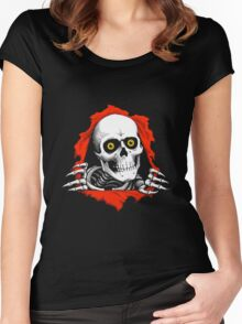 Skull Scary  Women's Fitted Scoop T-Shirt