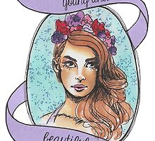 young and beautiful by cheekystickers