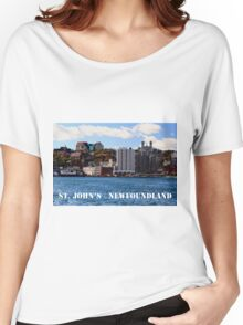 St. John's Newfoundland town and harbor  Women's Relaxed Fit T-Shirt