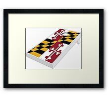 Maryland flag cornhole Framed Print