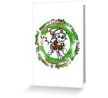 Christmas Dolmation Greeting Card
