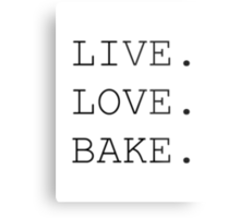 Live. Love. Bake. Metal Print