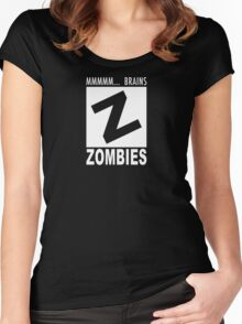 Zombies Rating Women's Fitted Scoop T-Shirt