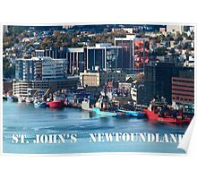 St. John's Newfoundland town and harbor Poster