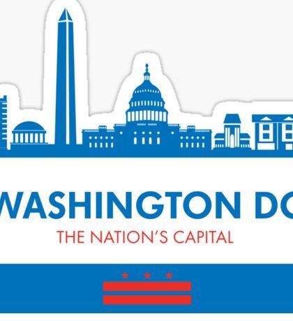 Washington DC Capital Shirt Sticker