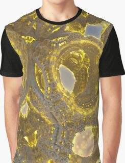 Golden Abstraction Graphic T-Shirt