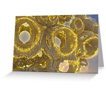 Golden Abstraction Greeting Card