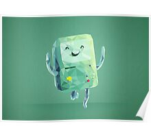 Beemo Polygonal | Adventure Time Poster